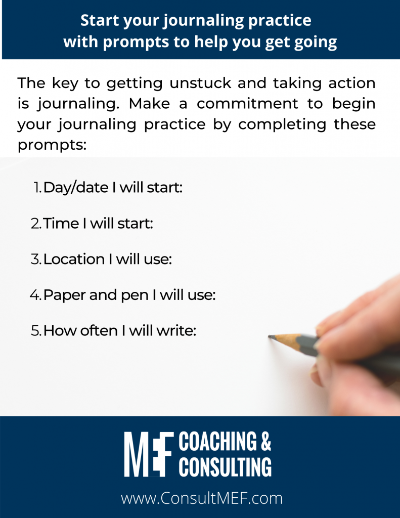 Journaling Practice - Start your journaling practice with prompts to get you going.